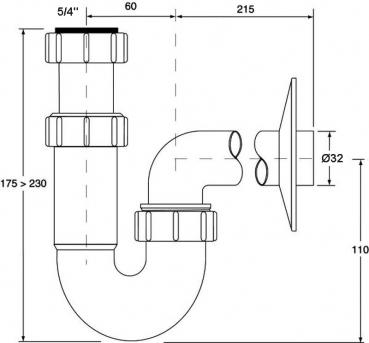 syphon geruchverschluss online kaufen sanitaer. Black Bedroom Furniture Sets. Home Design Ideas