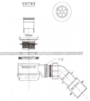 duschablauf 50 55 produkte sanitaer. Black Bedroom Furniture Sets. Home Design Ideas