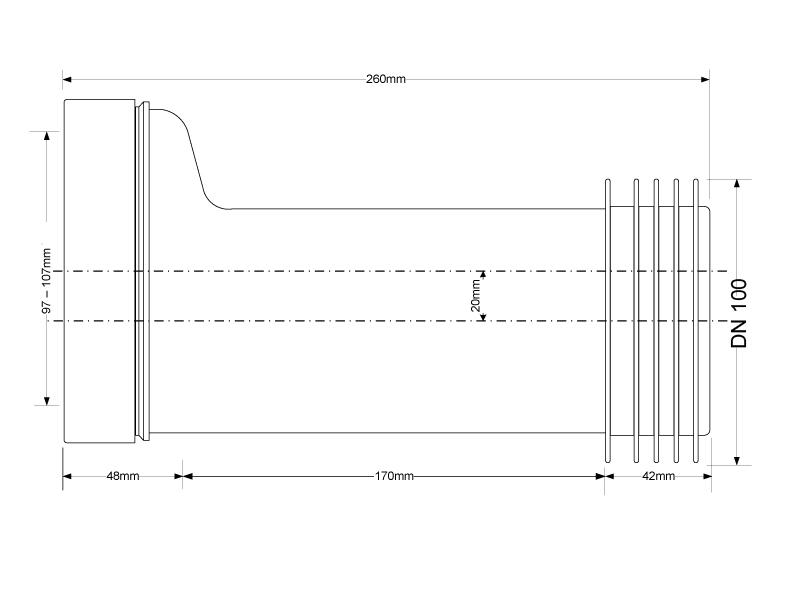 wc anschluss vorwandinstallation dn100 flexibel k rzbar. Black Bedroom Furniture Sets. Home Design Ideas