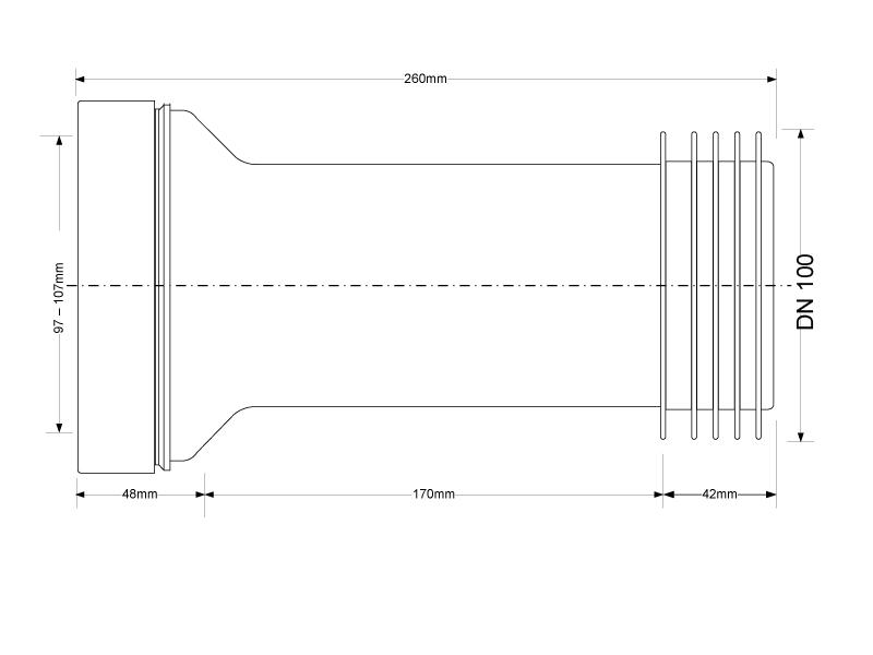 h nge wc anschluss vorwandinstallation dn100. Black Bedroom Furniture Sets. Home Design Ideas