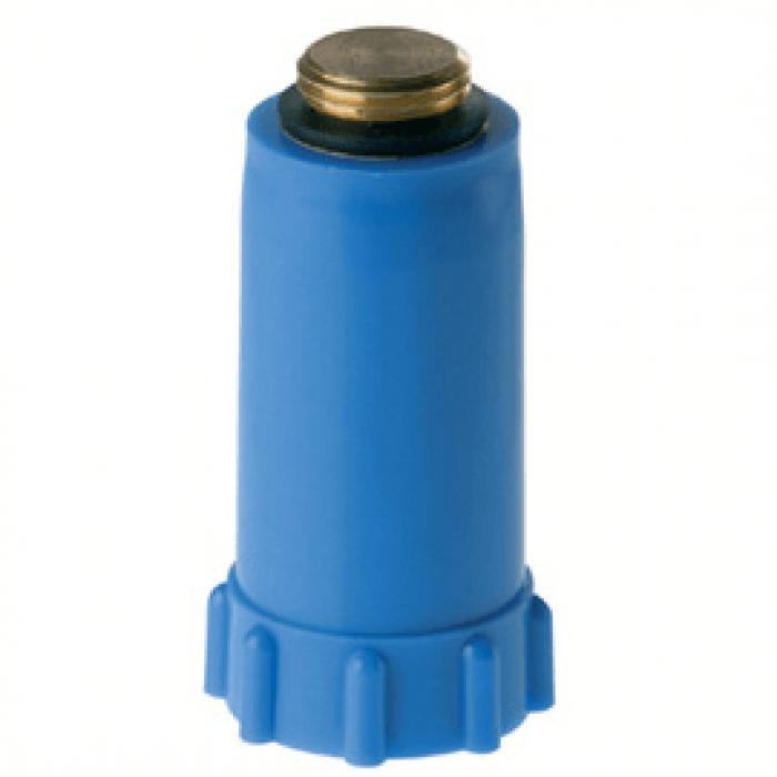 Baustopfen Messinggewinde 1/2 Zoll, Rot / Blau SP-BaustopfenM