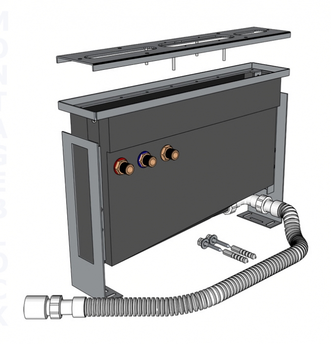 Montageblock - Trägersystem für Wannenrand Armaturen