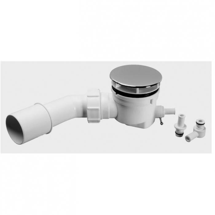 Mcalpine Duschwannensiphon Ø50-55 mit Restwasser-Zulauf, Bauhöhe 67mm SP-HC252588B-ST