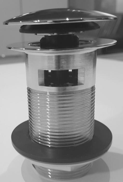 Mcalpine Schaftventil für Badewanne, 6/4 Zoll Gewinde, Ventilabdeckung Ø70mm SP-CBW70-90CB