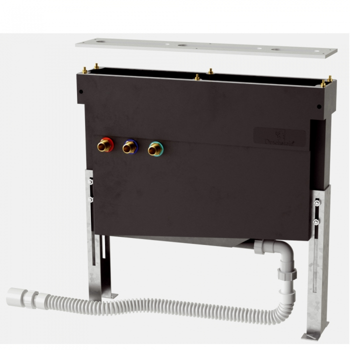 Drachstein Montagegestell mit Schlauchkasten für Fliesenrandmontage SP-MGS 485-675