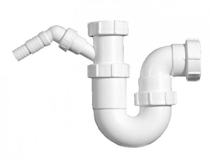 Mcalpine Geruchsschutz Küchen-Siphon 2 Zoll, Ø50 mit Geräteanschluss SP-HC4-250WPF