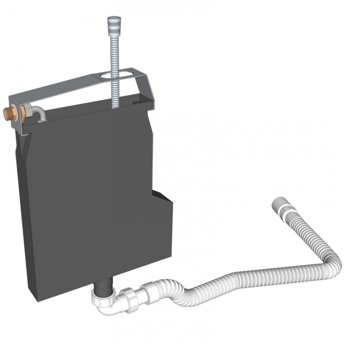 Drachstein Schlauchbox zur Wannenrandmontage - Schlupfbrause SP-SB_U_34_19