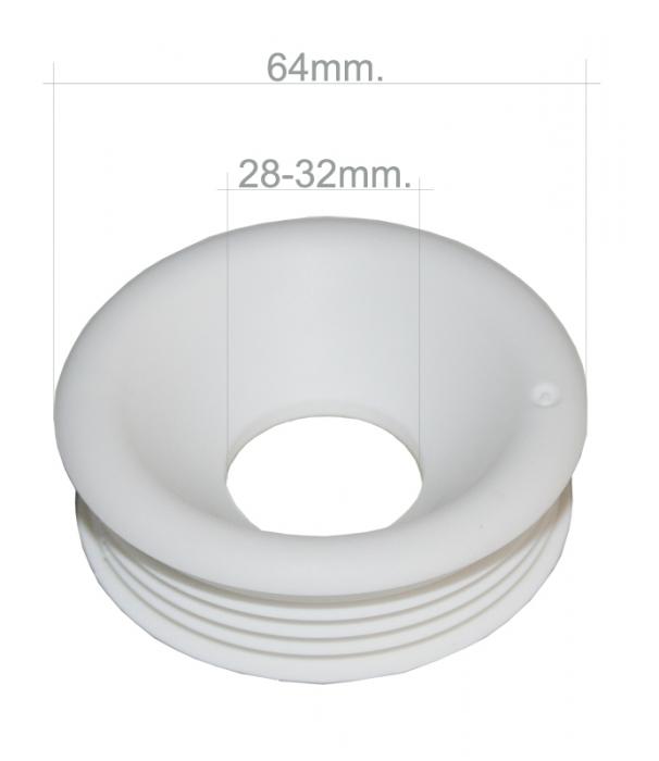 Spülrohr Verbinder für WC 28 - 32 mm SP-28-32-55